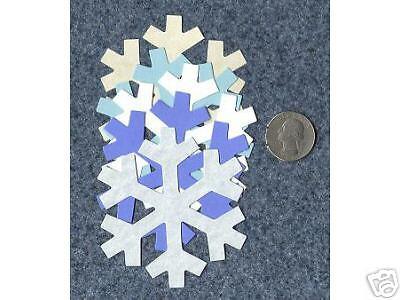 SNOW FLAKE die cuts scrapbook cards