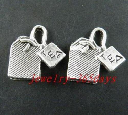 "40pcs Tibetan Silver /""Thé/"" Charms 15x15x5mm 8210"