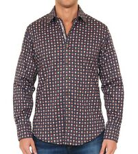 Robert Graham Macbeth Classic Fit Shirt with Multi-Skull Pattern MEDIUM $248