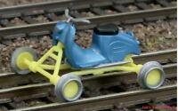 H0 Gleiskraftrad Gkr Typ 2 Schienenmoped Kres 40400 44400 Neu