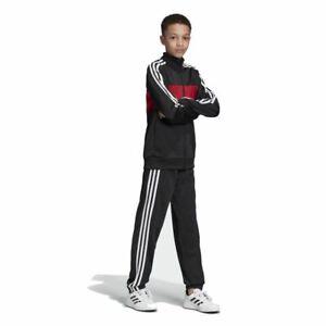 Objectif Adidas Performance Enfants Sport-survêtement Tiberio Tracksuit Noir Rouge-sanzug Tiberio Tracksuit Schwarz Rotafficher Le Titre D'origine