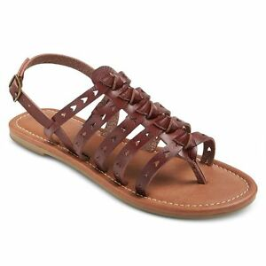 2f8563b5893 Details about NEW! Mossimo Lori Open-Toe Slingback Gladiator Thong Sandals  - Black & Brown