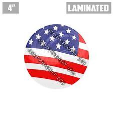 "1 Custom Thick Laminated Glossy 4"" 3M Premium Decal Sticker - USA AMERICAN FLAG"