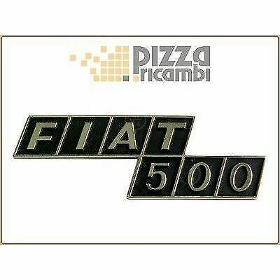 *frp* Fregio Logo Sigla Posteriore (in Zama) Fiat 500 F R Frieze Signos Durevole In Uso