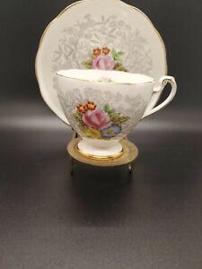 Vintage Roslyn Fine Bone China Harmony Tea Cup and Saucer