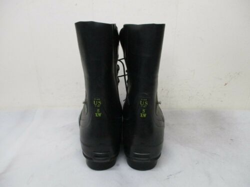 BATA AIRBORNE Black Military Rubber Lace Up Boots Mens Size 5 XW