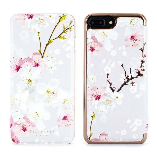 more photos d150e 28878 OFFICIAL Ted Baker AMMAA Mirror Folio iPhone 8 Plus Case Oriental Blossom