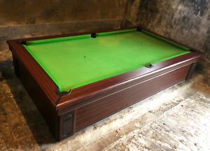 Supreme-Prince-Pool-Table-6ft-NO-MACHINE-MECHANISM-Mahogany-finish-Green-Felt