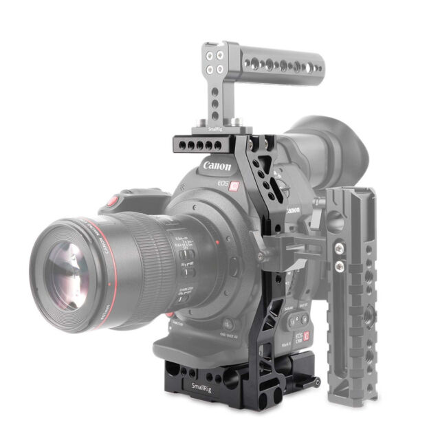 SmallRig Camera Video Cage for Canon EOS C100 & C100 Mark II With 15 Mm Rod  Clamp (cage Kit 1703)