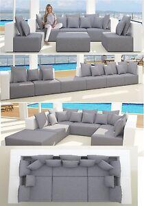 Xxxl Wohnlandschaft 6tlg Modulares Sofa 2 Farbig Stoff Kunstleder