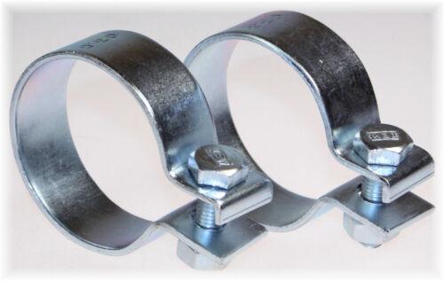 "2St BayWorld 63,5mm DIN Schelle Stahl verzinkt Breitbandklemme 2.50/"" Industrie"