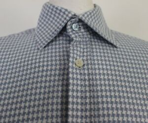 TED-BAKER-ARCHIVE-Mens-ANTOMIC-Houndstooth-Pattern-SHIRT-Size-15-034-Collar