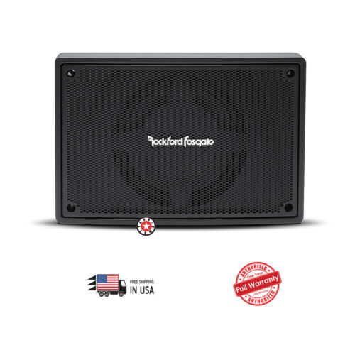 "Rockford Fosgate PS-8 8/"" 150W RMS Powered Car Stereo Audio Underseat Subwoofer"