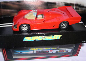 Superslot C047 Porsche 962c R Voiture De Rue Rouge Scalextric Uk Mb