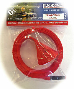 1-x-HURRICANE-VRX-SHORT-CASTING-ROD-RED-Fishing-Sock-Cover-Protector-Braid