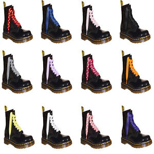90864f9d100 Coloured Ribbon Laces Bootlaces fits 3 6 8 10 Eye DM Boots Shoes ...