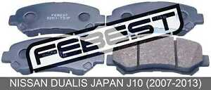 Pad-Kit-Disc-Brake-Front-For-Nissan-Dualis-Japan-J10-2007-2013