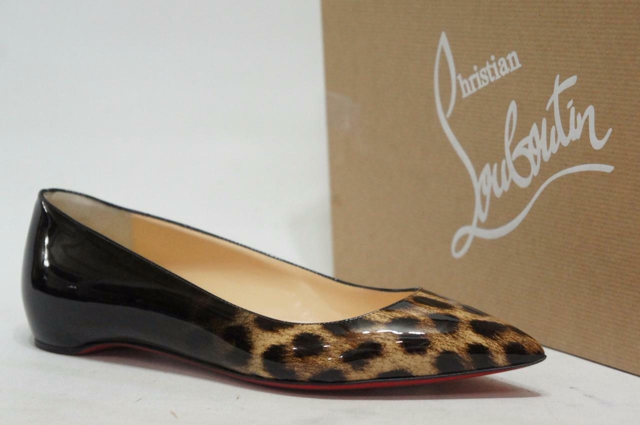CHRISTIAN LEATHER LOUBOUTIN PIGALLE FOLLIES PATENT LEATHER CHRISTIAN FLAT Scarpe 35.5/5  645 c7fccd