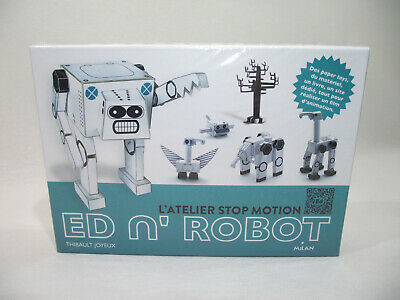 Ingegnoso L'atelier Stop Motion Ed N' Robot Coffret Neuf Film D'animation Livre Paper Toys Eccellente Nell'Effetto Cuscino