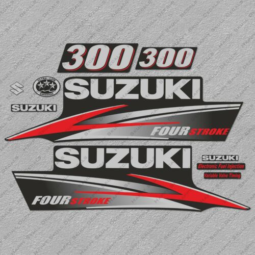 Suzuki 300HP Four Stroke Outboard Engine Decals Sticker Set reproduction 300 HP