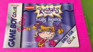 Rugrats-Totally-Angelica-Nintendo-Game-Boy-Color-Instruction-MANUAL-ONLY-No-Game