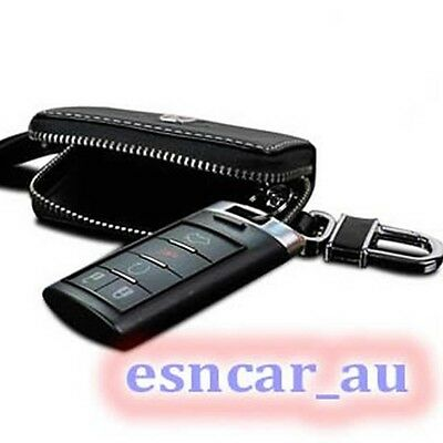 For Cadillac Remote Smart Key Geniune Leather Fob Case Holder Cover key chains