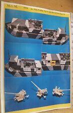 MGM 060-008 1/72 Resin WWII Flat Bot.Flak Barge Prahm Type A  w/3 37mm Flak 36