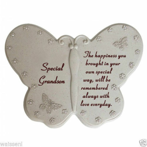 Memorial Tribute GraveSide Butterfly Grave Ornament with Diamante