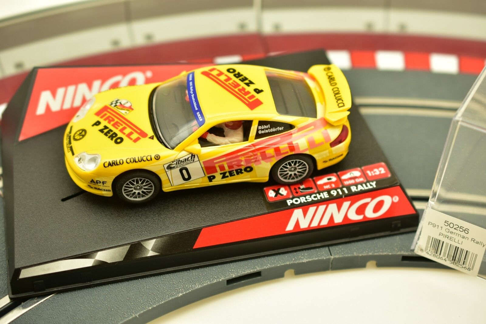 NINCO 1 32 SLOT CARS 50256 PORSCHE 911 GERMAN RALLY  PIRELLI  YELLOW