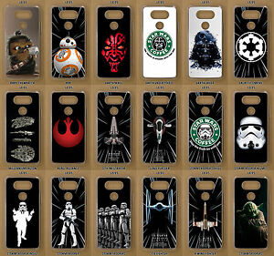 outlet store ee01c 025f6 Details about Star Wars Custom Made Clear Phone Case for LG G5, G6, G7, K8  2017, K10, LG Q6