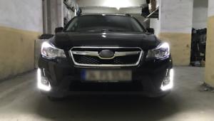 Pair DRL Daytime Running Driving Fog Light For Subaru XV