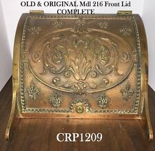 OLD Sm RARE Mdl. No.  216 Brass National Candy Store Cash Register FRONT LID