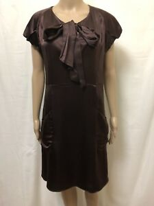 Collette-Dinnigan-Dress-Womens-Medium-Great-Cond-Pussy-Bow-Business-Casual