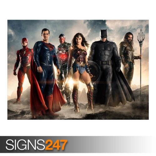AB078 Poster Print Art A0 A1 A2 A3 MOVIE POSTER JUSTICE LEAGUE 2017 MOVIE