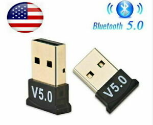 Lot of 5 USB Bluetooth 5.0 Adapter Wireless Dongle Stereo Audio For PC Laptop TV
