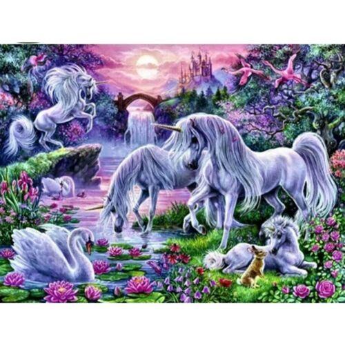 Full Drill 5D Diamond Painting Unicorn And Swan Cross Stitch Kits Home Decors