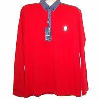Mondo Gray Red Cotton Men Polo Style Shirt Sweater Size 4xl Plaids