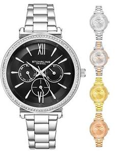 Stuhrling 3908 Women's Fashion Japan Quartz Multi Function Stainless Dress Watch