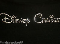 7.5 Disney Cruise (text) Iron On Rhinestone Transfer In Clear For T Shirt