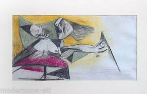 P-PICASSO-Lithograph-NUMBERED-Ltd-Ed-89-199-EMBOSS-cert-61x40cm-FRAMING