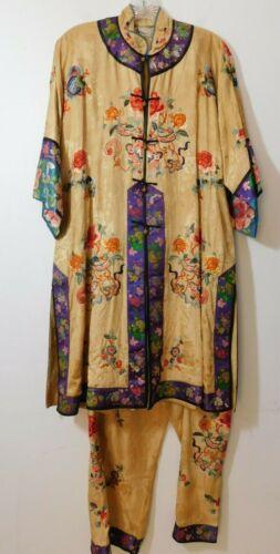 JAY'S of BOSTON Vintage 100% Silk Handmade Embroid