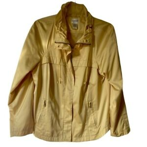 Zenergy By Chicos Womens Jacket Yellow Zip Up Pockets Drawstring M/8