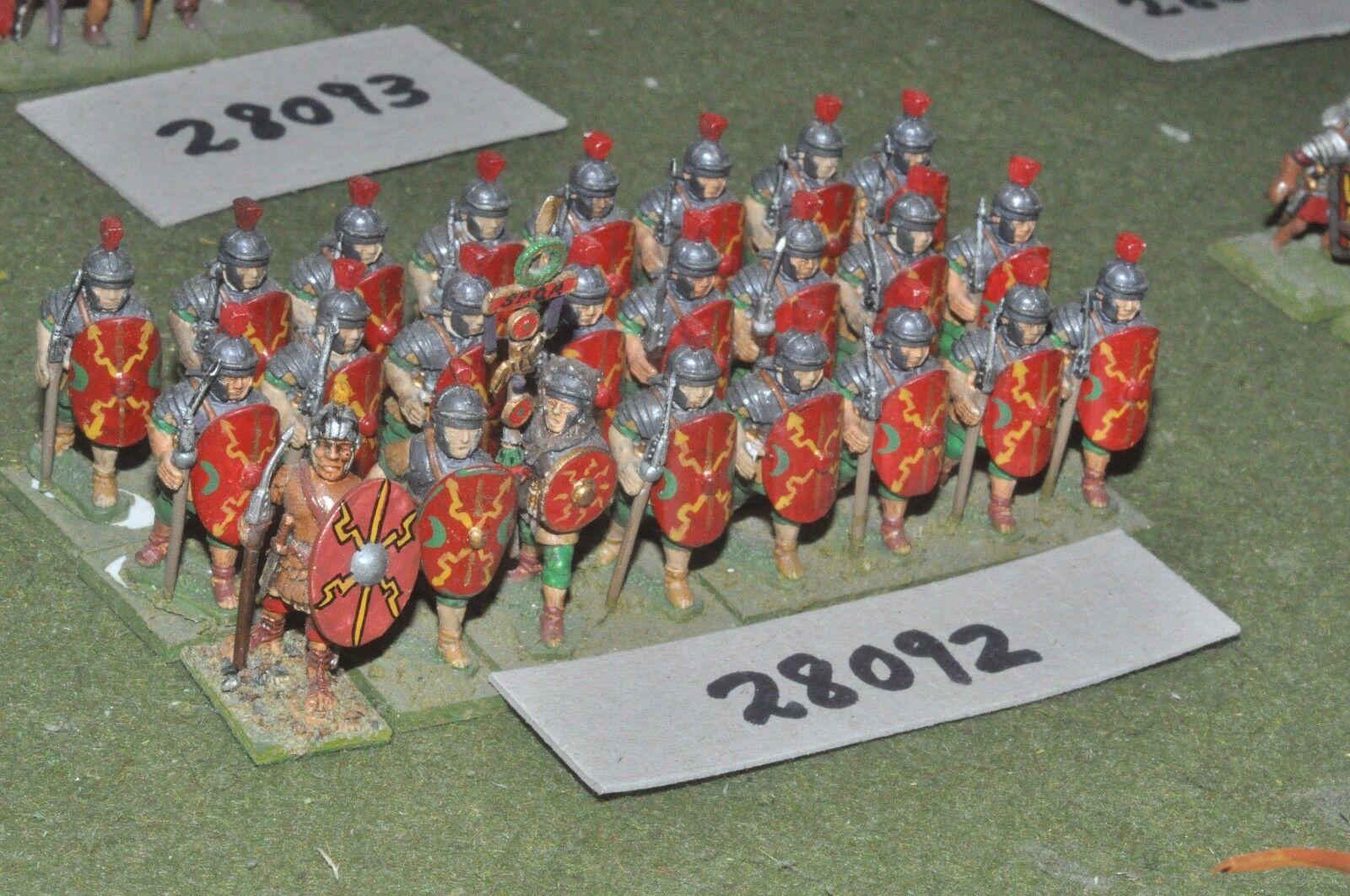 25mm roman era   roman - legionaries 24 figures - inf (28092)