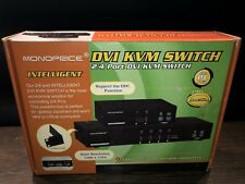 4-Port DVI KVM Switch PC PS//2 Keyboard//Mouse and Monitor 1280x1024