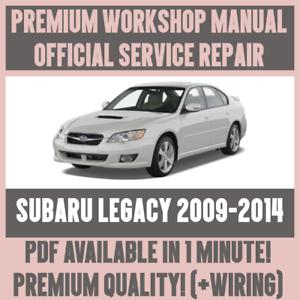 workshop manual service repair guide for subaru legacy 2009 2014 rh ebay com Subaru Manual Transmission Subaru Impreza Manual