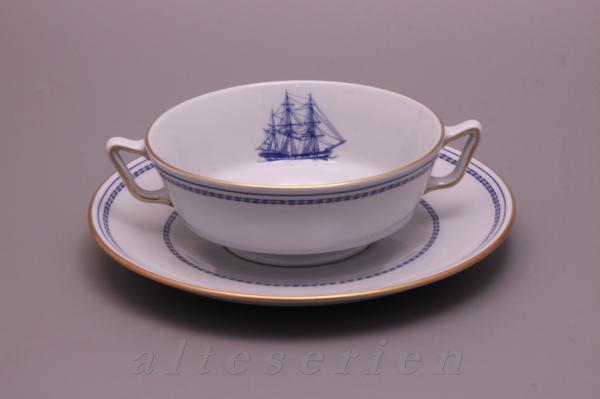 Tasse de soupe avec inférieure Spode Copeland Trade Winds bleu-W 146