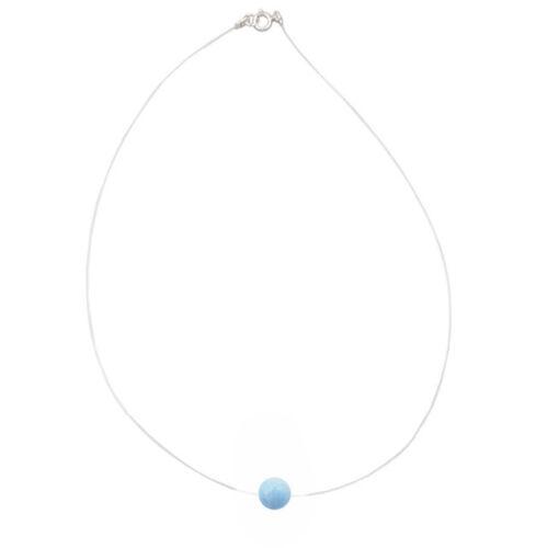 REAL Peridot//Kyanite//Aquamarine sterling silver Choker Invisible Necklace 16/'