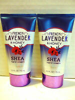 Bath Body Works French Lavender Honey Shea Hand Cream, 2.5 Oz/75 Ml, X 2
