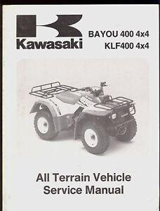 1993 kawasaki klf 400 bayou 400 4x4 atv service manual ebay rh ebay co uk