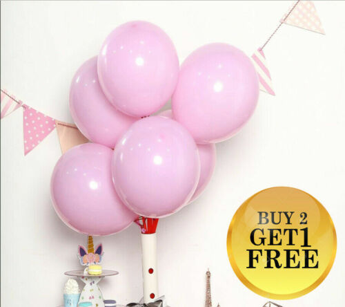 10-100 pcs Candy Colored Party Balloons oval Pastel Latex Balloons 10 Inch UK